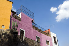 Guanajuato. View of a beautiful, colorful and typical house in Guanajuato, Mexico Royalty Free Stock Photo