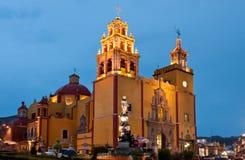 Guanajuato cathedral, Mexico. Old Cathedral in Guanajuato, Mexico stock photo