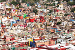 Guanajuato City. Aerial view of Guanajuato, Mexico, showing colorful houses Stock Photography