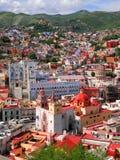 Guanajuato im Stadtzentrum gelegen Stockbild