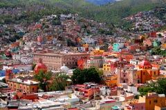 Guanajuato Luftaufnahme Lizenzfreie Stockfotos