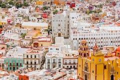 Guanajuato México, vista de una ciudad mexicana colorida imagen de archivo