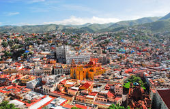 Guanajuato, mexican town. Panoramic of Guanajuato, colorful mexican town Royalty Free Stock Images
