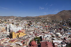 Guanajuato, mexico. The beautiful skyline of the city of guanajuato, mexico. this city is interesting as most of the roads are underground in tunnels Royalty Free Stock Images