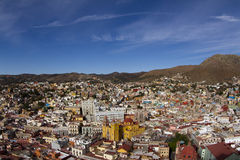 Guanajuato, mexico. The beautiful skyline of the city of guanajuato, mexico. this city is interesting as most of the roads are underground in tunnels Stock Images