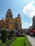 Guanajuato Mexico church. Church and garden in Guanajuato Mexico Stock Photos