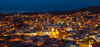 Guanajuato, Mexico. The city of Guanajuato, Mexico, by night royalty free stock photos