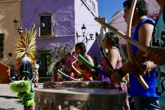 Guanajuato, Mexico-January 22, 2017: Dancers perform for San Joaquin festival Royalty Free Stock Photo