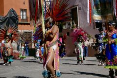 Guanajuato, Mexico-January 22, 2017: Dancers perform for San Joaquin festival Royalty Free Stock Image