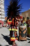 Guanajuato, Mexico-January 22, 2017: Dancers perform for San Joaquin festival Stock Photos