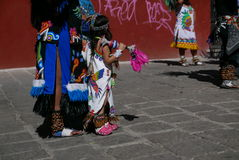 Guanajuato, Mexico-January 22, 2017: Dancers perform for San Joaquin festival Royalty Free Stock Photography