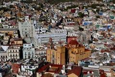 Guanajuato, Mexico-January 10, 2017: Guanajuato city at dusk Stock Image