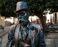 Guanajuato, Mexico-January 8, 2017: A street performer poses for a picture Stock Photo