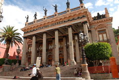 Guanajuato Mexico Tourism. Teatro Juarez in Guanajuato Tourism Mexico city stock photography