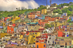 Guanajuato, Mexico. View of many colorful hillside houses in Guanajuato, Mexico, a UNESCO World Heritage Site Stock Images