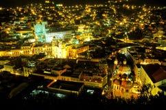 Guanajuato nachts Mexiko Lizenzfreie Stockfotografie