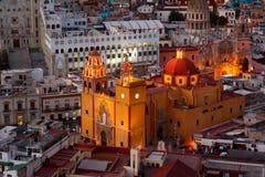Guanajuato på nätterna. Arkivfoton