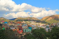 Guanajuato´s colorful houses stock photography