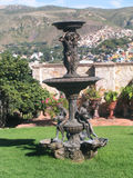 Guanajuato Statue of ladies with water vase. Statue of ladies holding water vase, in the background the city of Guanajuato, Mexico Royalty Free Stock Photography
