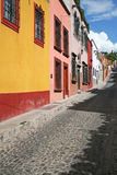 Guanajuato street. The typical view of the street of Guanajuato, Mexico Royalty Free Stock Image