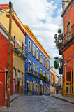 Guanajuato street. Cobbled street in Guanajuato Mexico stock images