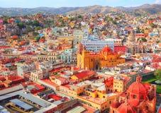 Guanajuato, surveillance scénique de ville photos libres de droits