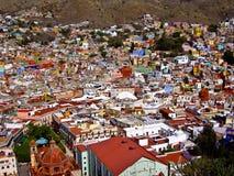 Guanajuato zbocza Miasteczko Meksyk Zdjęcia Stock