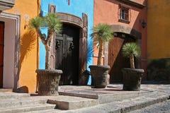 guanajuatoen houses mexico Arkivbild
