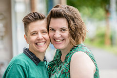 Guance commoventi delle coppie lesbiche Immagine Stock