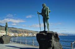 Guanche印地安雕象,特内里费岛, Canarian海岛,西班牙 免版税库存照片