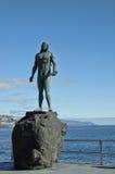 Guanche印地安雕象,特内里费岛, Canarian海岛,西班牙 库存图片