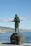 Guanche印地安雕象,特内里费岛, Canarian海岛,西班牙 免版税图库摄影