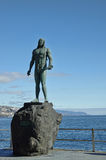 Guanche indian statue, Tenerife, Canarian Island, Spain. Stock Image