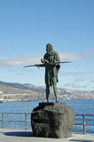 Guanche indian statue, Tenerife, Canarian Island, Spain. Royalty Free Stock Photography
