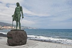 Guanches indians statues Royalty Free Stock Photography