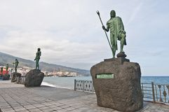 Guanches indians statues Stock Photo
