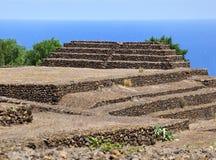 Guanches kroka ostrosłupy De Guimar, Tenerife Fotografia Stock