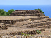 Guanches step pyramids de Guimar, Tenerife Stock Photography