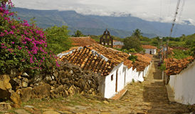 Guane, Colombia. View of the beautiful laid-back colonial village of Guane, near Barichara. Santander, Colombia stock photography