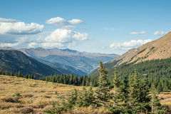 Guanella Pass Overlook. Colorado high elevation pass with vast open space looking into Georgetown valley Stock Photography