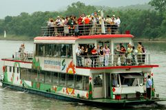 Guang Xi Province, China: LiJiang River Boat Royalty Free Stock Photography