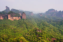 Guangdong Danxia Mountain World Geology Park,China. View to the World Natural Heritage,Guangdong Danxia Mountain World Geology Park.It is famous for its  special Royalty Free Stock Image