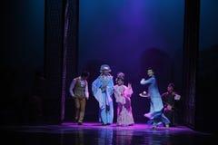 Guangdong de opera-eerste handeling van de gebeurtenissen van dans drama-Shawan van het verleden stock foto