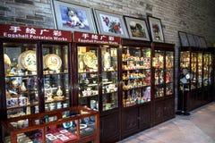 Guangdong, een beroemde toeristische attractie in China, verkoopt winkels van volkskunsten en ambachten in Chen Clan Academy Royalty-vrije Stock Foto