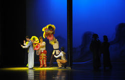 Guangdong lion Dance-The first act of dance drama-Shawan events of the past Royalty Free Stock Photo