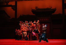 Guangdong National Music Orchestra-The first act of dance drama-Shawan events of the past Royalty Free Stock Images
