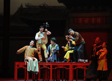 Guangdong National Music Orchestra-The first act of dance drama-Shawan events of the past. Guangdong Shawan Town is the hometown of ballet music, the past Stock Image