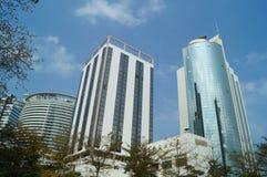 Guangdong strefa wolnego handlu, Qianhai Shekou teren zdjęcia stock