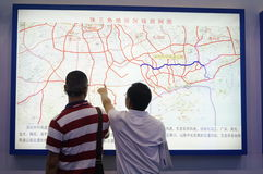 Guangdong traffic map, in China Royalty Free Stock Photography