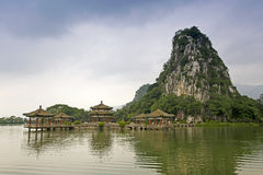 Guangdong Zhaoqing Seven Star Crags Tianzhu rock scenery Royalty Free Stock Photography